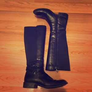 Aquatalia Black Leather Boots Size 8